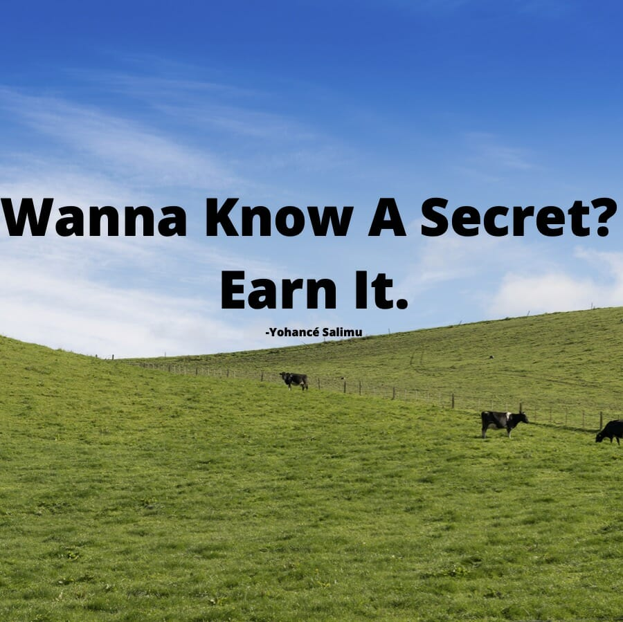 develop success with hard work with images of cows on a farm