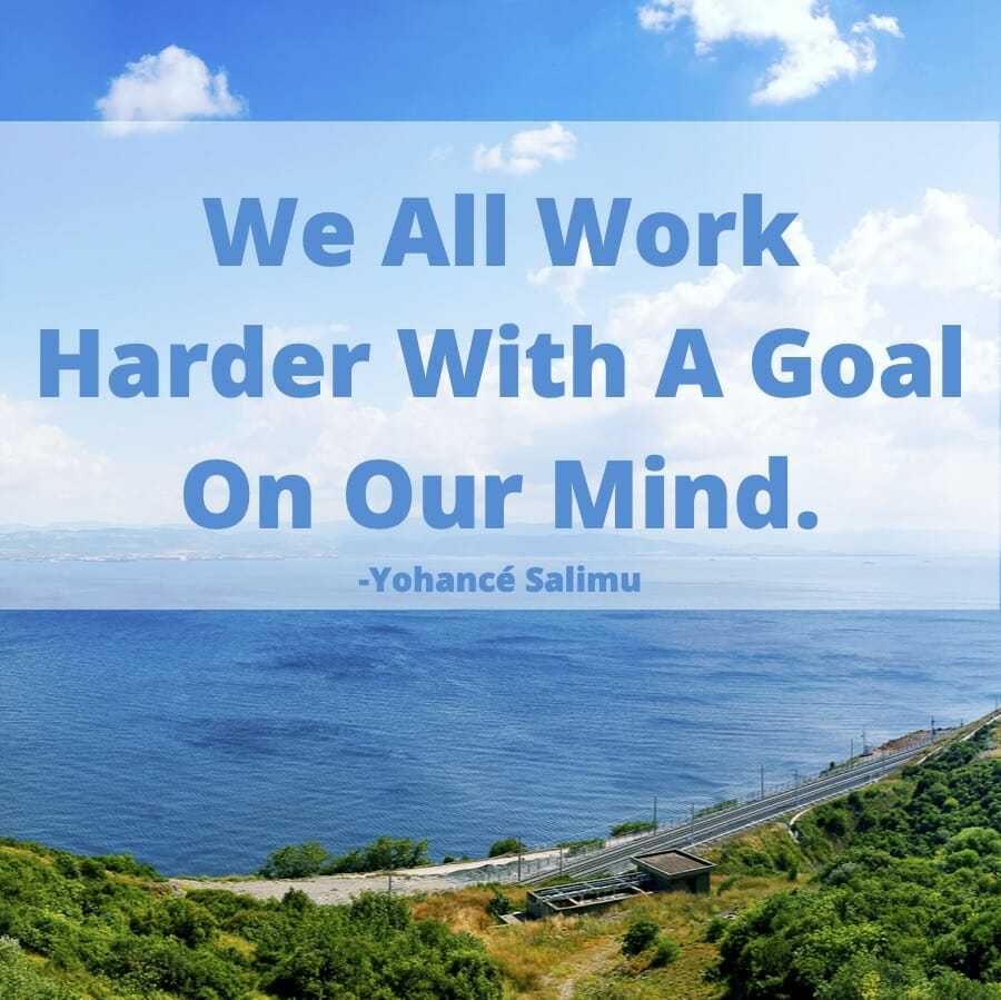 inspirational quote on goals