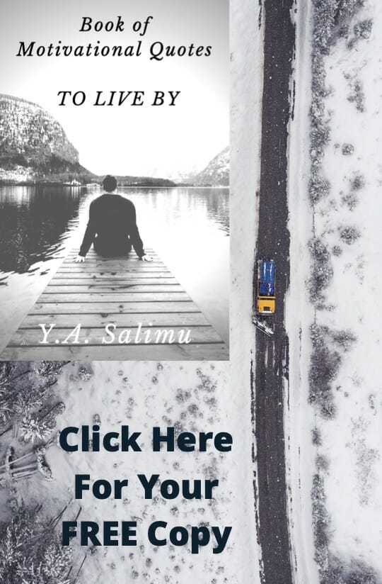 motivational quotes book mockup on a pier next to the snow