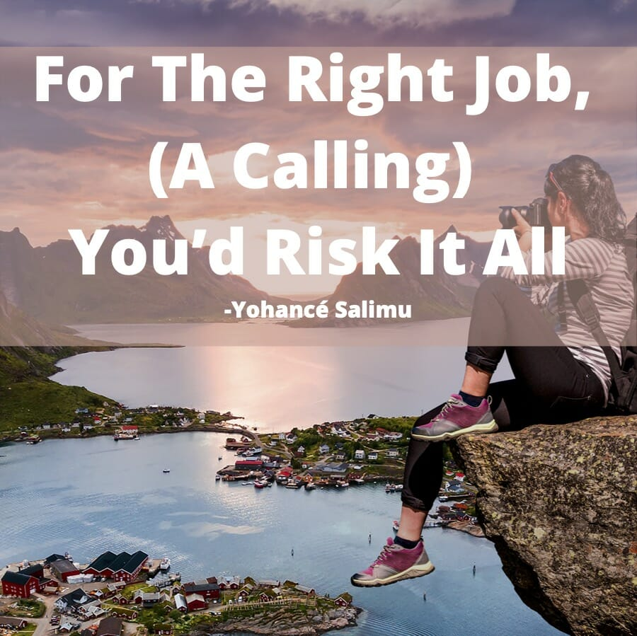 inspirational quote about the right job